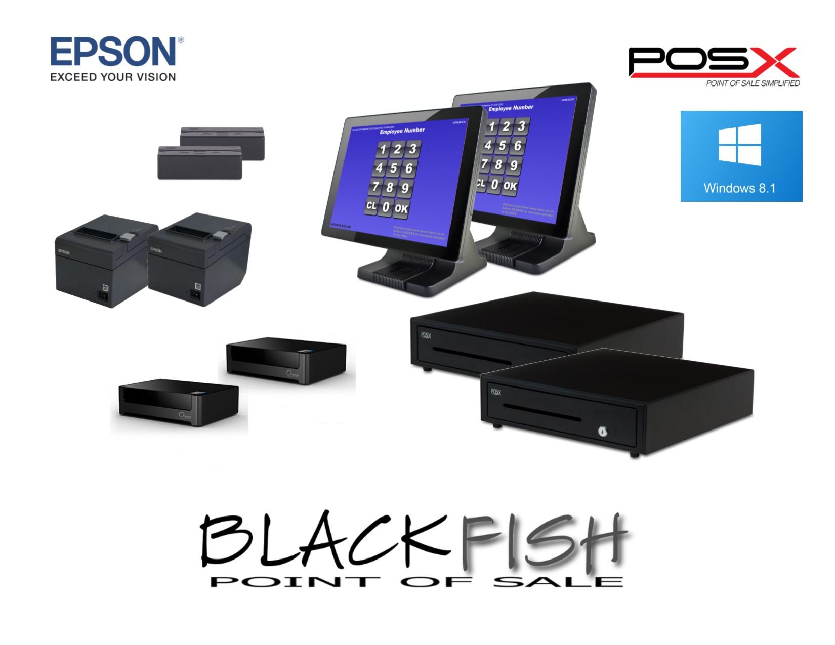 2 Station Complete Blackfish Bar/Restaurant POS System  sc 1 st  Saber POS & Dinerware u2013 Saber POS