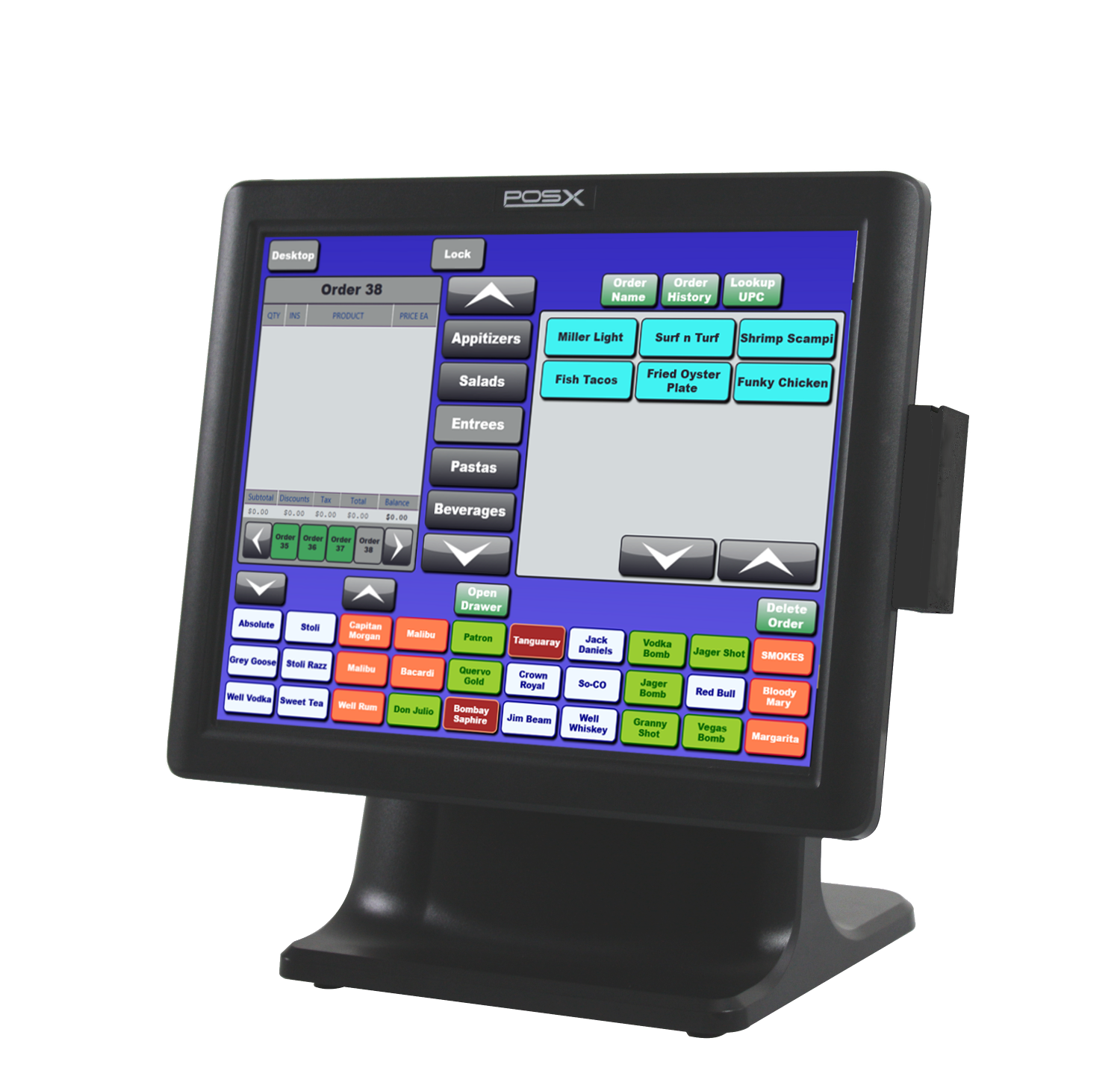 2 Station All In One Blackfish Restaurant Pos System